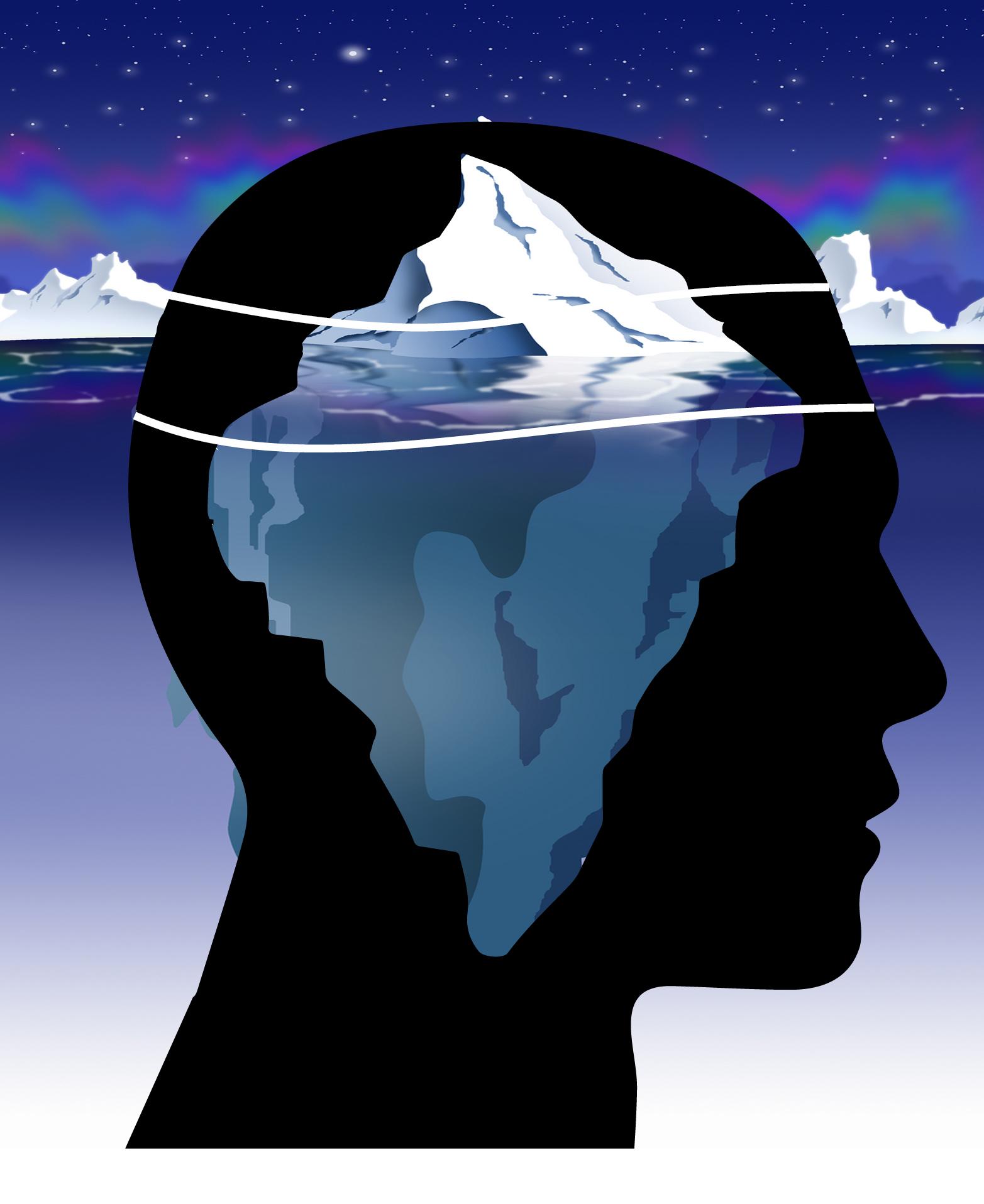 زیگموند فروید در مدل توپوگرافیک، ذهن انسان را به سه قسمت هشیاری، نیمه هشیاری و ناهشیاری تقسیم کرده است.