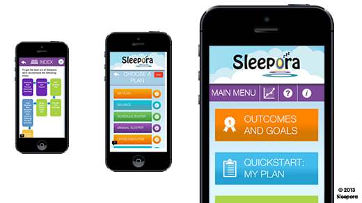 Sleepora App Porgram Screens